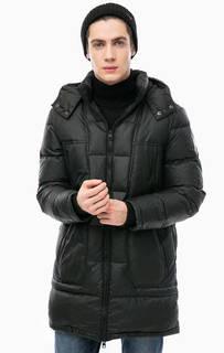 Черный пуховик со съемным капюшоном Calvin Klein Jeans
