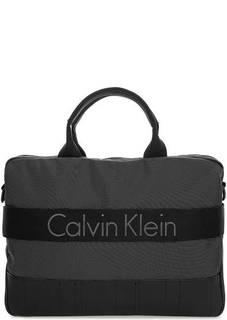 Текстильная сумка с одним отделом на молнии Calvin Klein Jeans