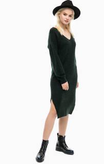 Зеленое платье-свитер с разрезами Scotch&Soda