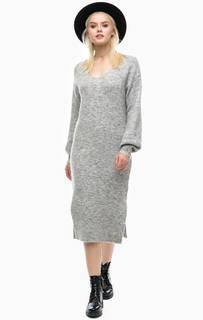 Серое платье-свитер с разрезами Scotch&Soda