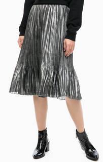 Плиссированная юбка серебристого цвета Scotch&Soda