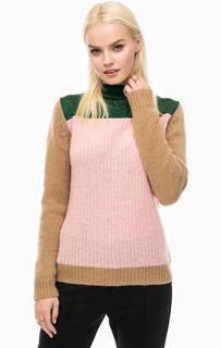 Розовый свитер с контрастными рукавами Scotch&Soda