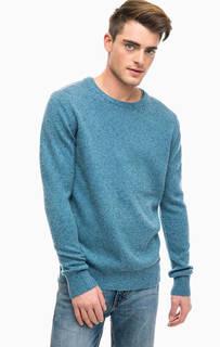 Синий свитер с круглым вырезом Scotch&Soda
