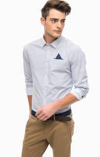 Хлопковая рубашка с нагрудным карманом Scotch&Soda