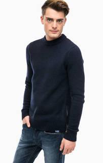 Шерстяной свитер с молнией сбоку Scotch&Soda