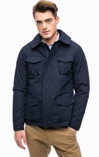 Синяя куртка со скрытым капюшоном на молнии Scotch&Soda