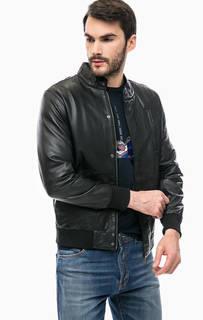 Кожаная куртка с эластичными манжетами Liu Jo Uomo