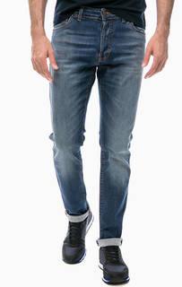 Зауженные джинсы с заломами и потертостями Liu Jo Uomo
