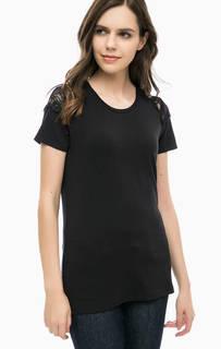 Черная футболка с кружевными вставками Liu Jo