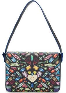 Разноцветная сумка с длинной ручкой Tosca BLU
