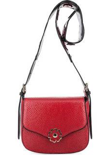 Красная сумка через плечо с откидным клапаном Tosca BLU