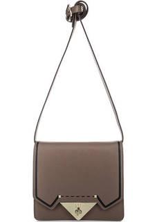Маленькая коричневая сумка из натуральной кожи Tosca BLU