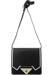 Маленькая черная сумка из натуральной кожи Tosca BLU
