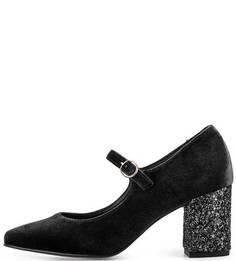 Текстильные туфли с ремешком Tosca BLU