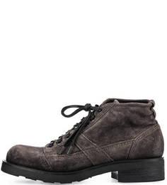 Замшевые ботинки серого цвета O.X.S.