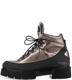 Золотистые ботинки на толстой подошве O.X.S.
