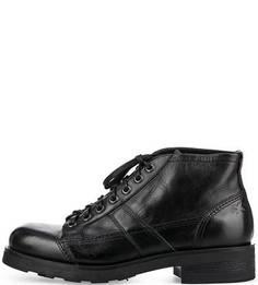 Черные кожаные ботинки O.X.S.