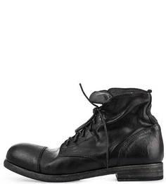 Черные ботинки из натуральной кожи O.X.S.