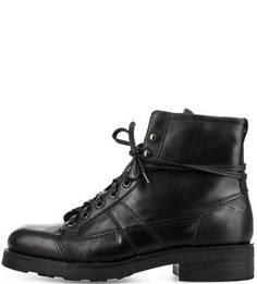 Кожаные ботинки черного цвета O.X.S.