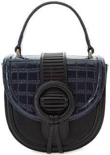 Маленькая кожаная сумка через плечо Cavalli Class