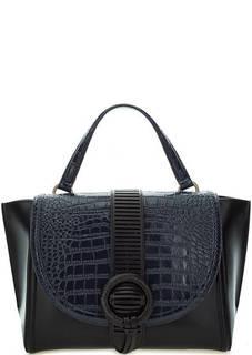 Кожаная сумка с откидным клапаном Cavalli Class