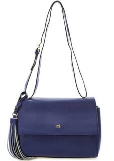 Синяя сумка с откидным клапаном Cavalli Class