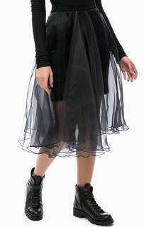 Черная юбка с подкладкой из вискозы MET