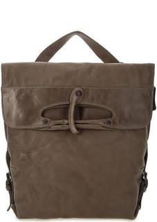 Кожаная сумка-рюкзак коричневого цвета Aunts & Uncles