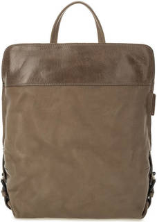 Серый кожаный рюкзак на молнии Aunts & Uncles