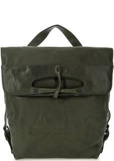 Кожаная сумка-рюкзак цвета хаки Aunts & Uncles