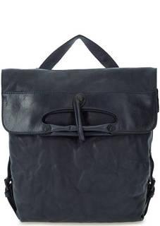 Кожаная сумка-рюкзак синего цвета Aunts & Uncles