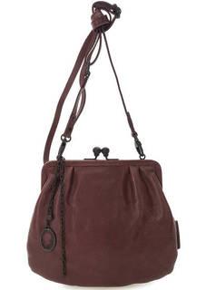 Бордовая кожаная сумка с одним отделом Aunts & Uncles