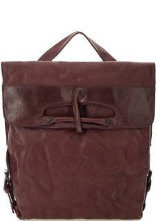 Кожаная сумка-рюкзак бордового цвета Aunts & Uncles