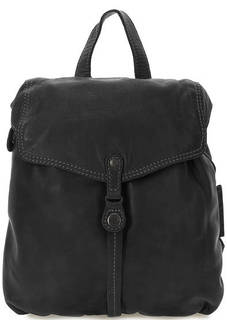 Черный кожаный рюкзак с откидным клапаном Aunts & Uncles