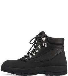 Черные ботинки на шнуровке Vagabond
