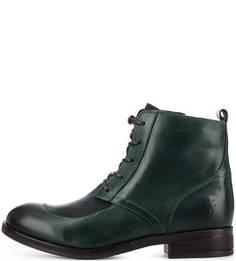 Кожаные ботинки на молнии и шнуровке FLY London