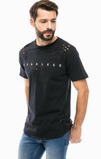 Хлопковая футболка черного цвета Alcott