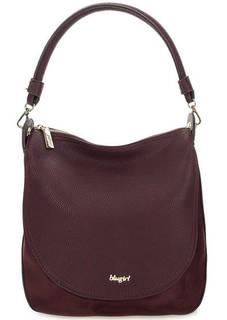 Бордовая сумка с длинной ручкой Blugirl