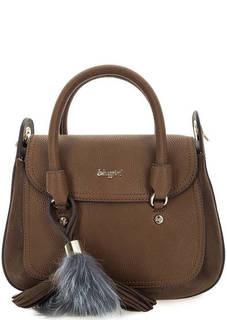 Коричневая сумка с широким плечевым ремнем Blugirl
