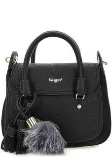 Черная сумка с широким плечевым ремнем Blugirl
