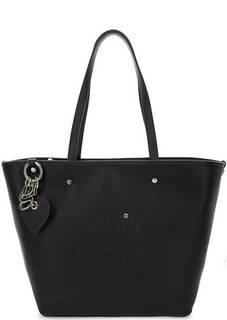 Черная сумка с длинными ручками Blugirl