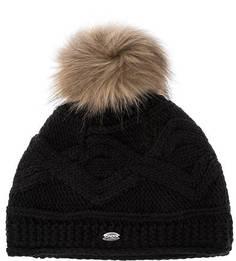 Черная шапка с вязаным узором Capo