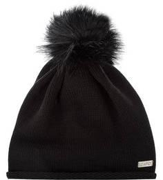 Черная шапка с помпоном Capo