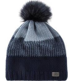 Синяя шапка фактурной вязки Capo