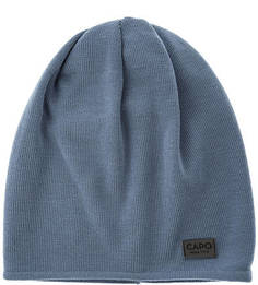 Синяя шерстяная шапка Capo