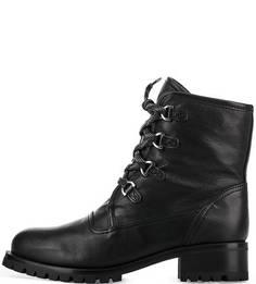 Утепленные кожаные ботинки Unisa