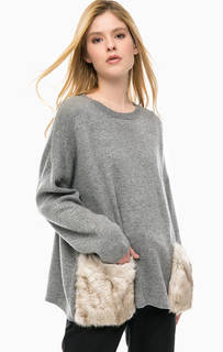 Серый свитер с карманами Silvian Heach