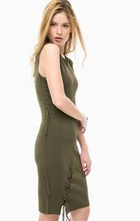 Трикотажное платье цвета хаки без рукавов Silvian Heach