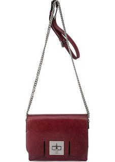 Красная кожаная сумка через плечо Gianni Chiarini