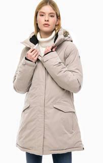 Длинная зимняя куртка со съемным капюшоном Luhta